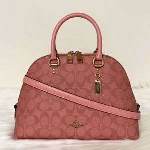 New💃Coach Katy Satchel In Signature Canvas Purse